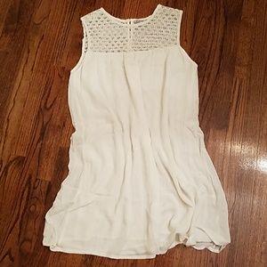 Flowy Lace White Shift Dress